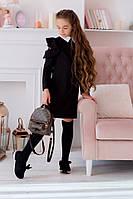 Детское школьное Платье с гипюровой вставкой, фото 1