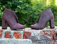 Женские ботинки на каблуке осень . Натуральная кожа