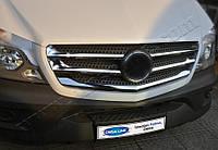 Накладки на решетку радиатора 5шт Mercedes Sprinter FL 2013 -