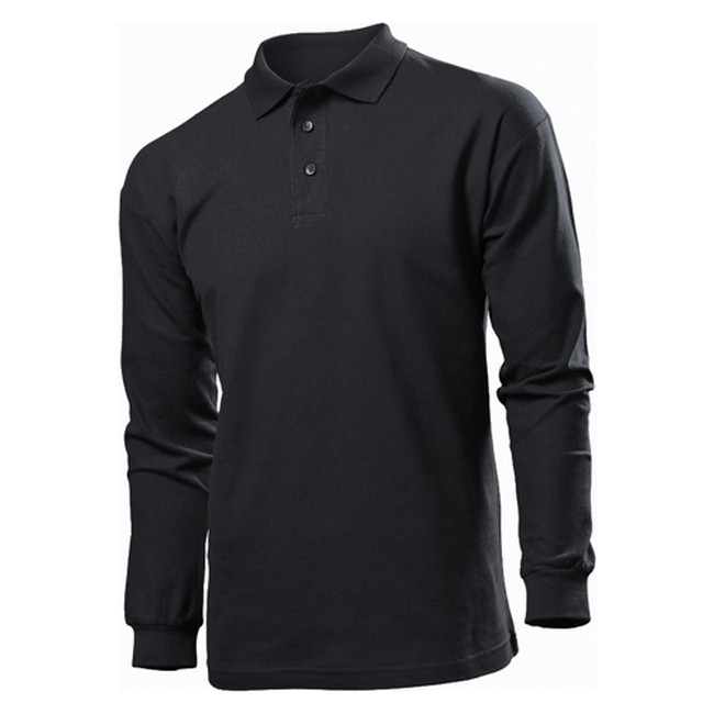 Футболка Поло 'Stedman' 'Polo Long Sleeve' Black Opal