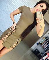 Платье со шнуровкой, размер 42,44, фото 3