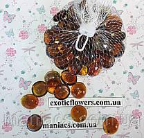 Камни для декора стеклянные, Янтарь