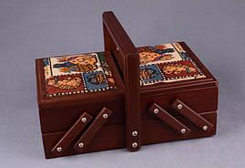 Деревянная шкатулка для рукоделия 592-042