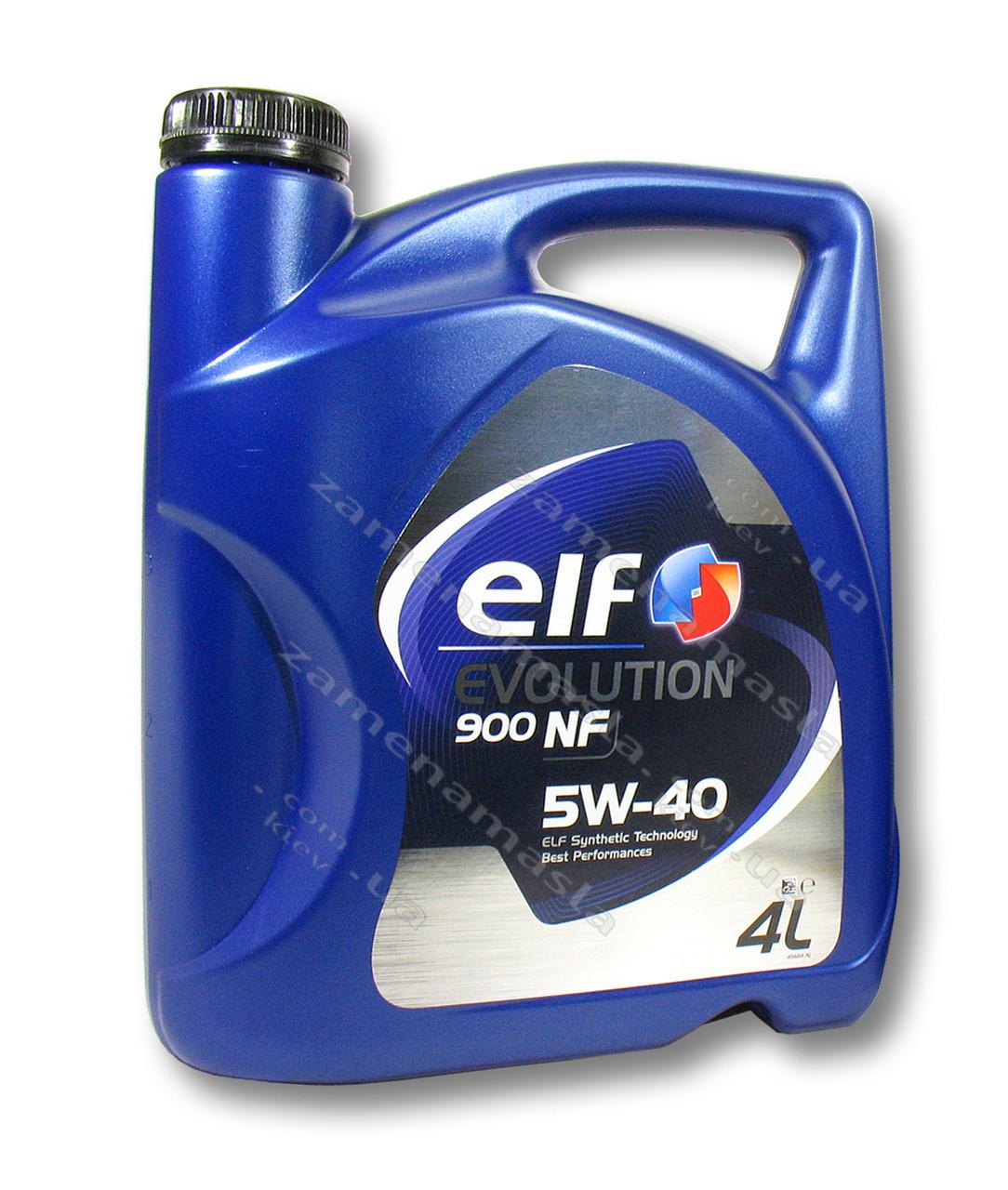 Elf Evolution 900NF 5W40 4л - моторное масло