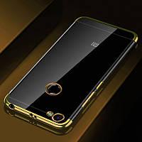 Чехол бампер для Xiaomi Redmi Note 5a / Note 5а Pro / 5A Prime 3/32 силиконовый Frame Gold