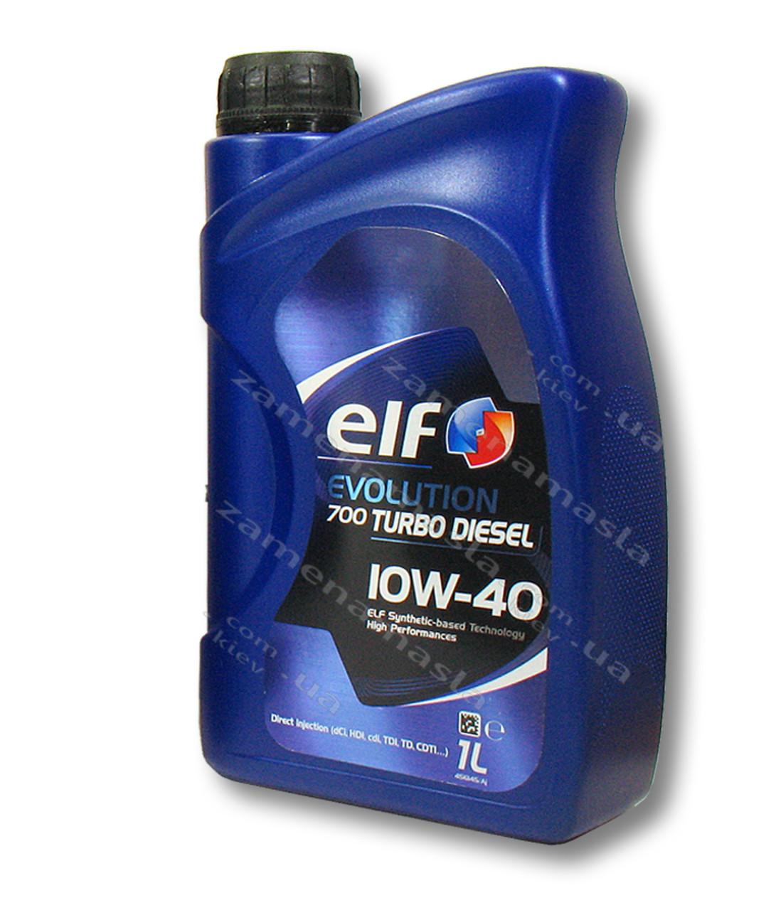 Elf Evolution 700 turbo diesel 10W40 1л - моторное масло