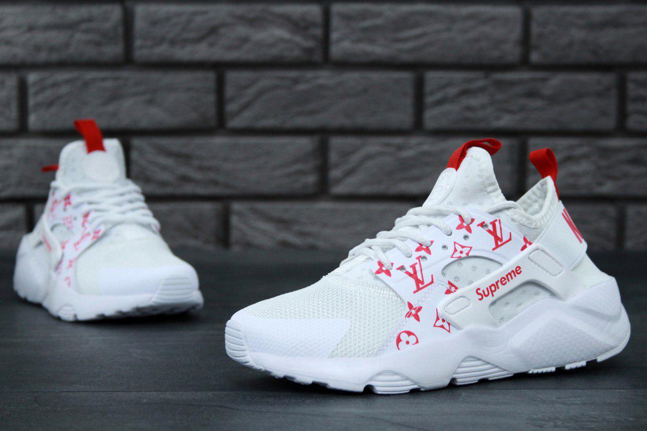 Nike Air Huarache Run Ultra x LV x Supreme женские кроссовки