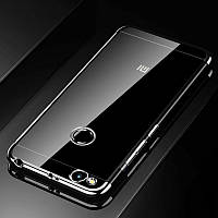 Чехол Frame для Xiaomi Redmi 4x / 4Х Pro бампер силиконовый Silver