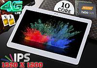 Мощный 4G планшет Y900! 10 ядер, 4/32GB, 2сим,GPS, 1920x1200 10.1 Android 7