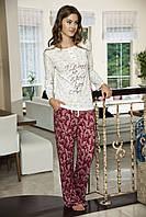 Женская пижама Shirly 5824, костюм домашний с повязкой на глаза для сна, фото 1