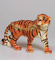 Шкатулка со стразами Тигр 15 см JB-77