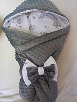 Конверт-плед детский Плюш Minky, 70*80 см.