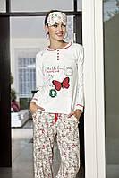 Женская пижама Shirly 5827, костюм домашний с повязкой на глаза для сна