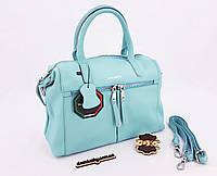 """Женская кожаная сумка """"Galanty"""" blue 34*24*12 см (натуральная кожа)"""