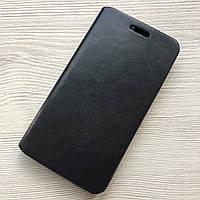 Чехол-книжечка на магните под кожу Samsung Galaxy А3 черный в упаковке