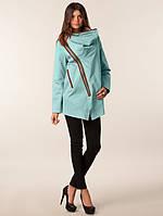 Женское легкое пальто с косой молнией MINIMUM Atalie Jacket oil blue в размере S