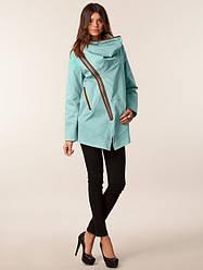Женская куртка с косой молнией MINIMUM Atalie Jacket oil blue в размере S 44