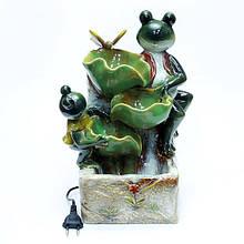 Красивый керамический фонтан Лягушки