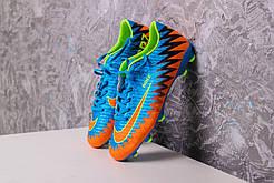 Бутсы Nike  Mercurial CR7(Синие) 1002