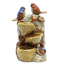 Керамический фонтан для декора Птицы