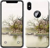 "Чехол на iPhone X Японский пейзаж ""776c-1050-12506"""