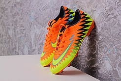 Бутсы Nike Mercurial CR7 (Оранжевые) 1006