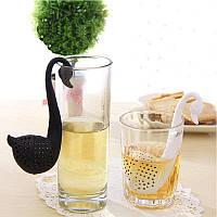 Красивое ситечко для чая в виде лебедя