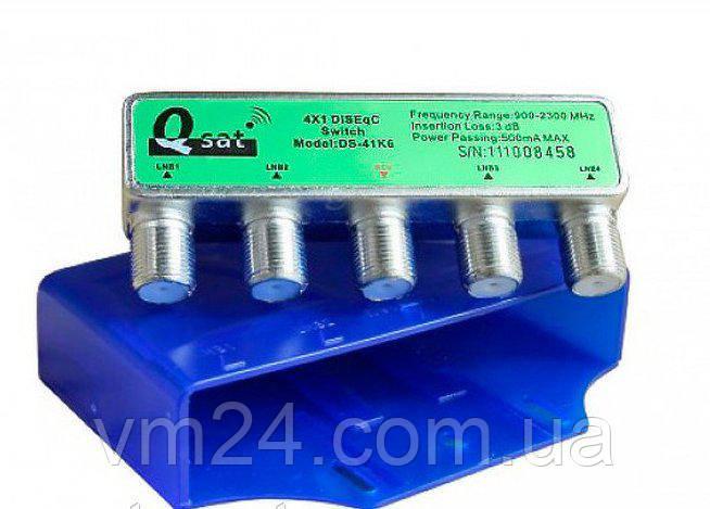 Коммутатор DISEqC 4x1  Q-SAT DS-41K6