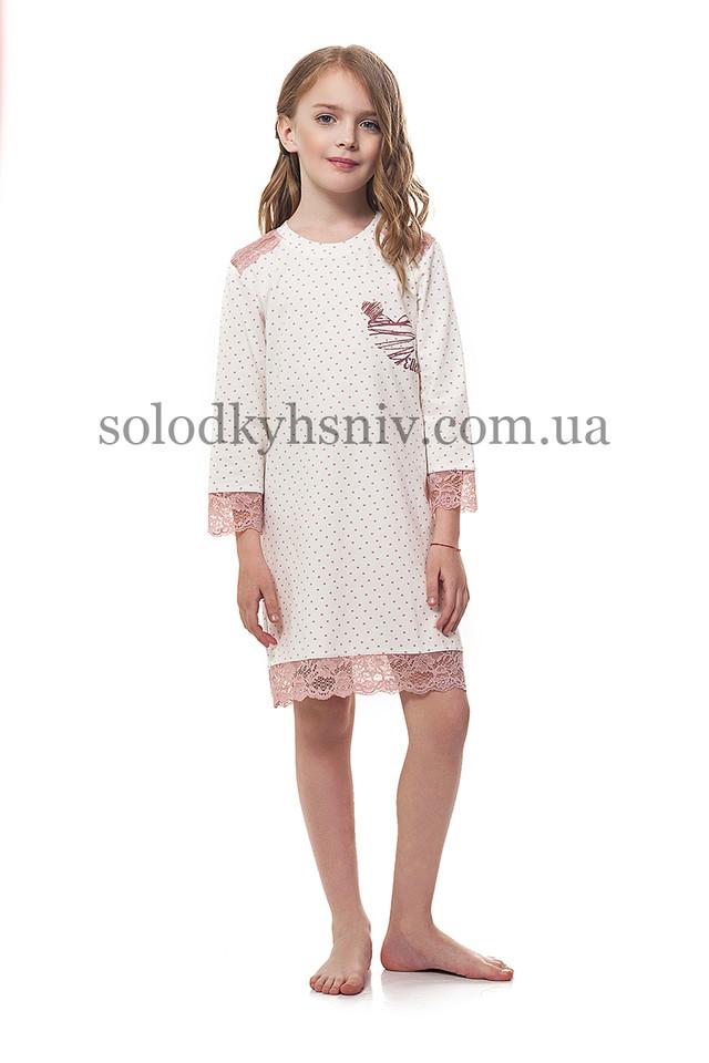 Піжама для дівчинки Кавові Серця р.122 Ellen 038 001  продажа 0ebe97c780241