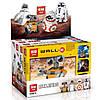 Конструктор Lepin 03073ABCD Роботы mini Wall-E, EVA, BB-8, R2-D2 (аналог Lego Star Wars) НАБОР из 4 шт