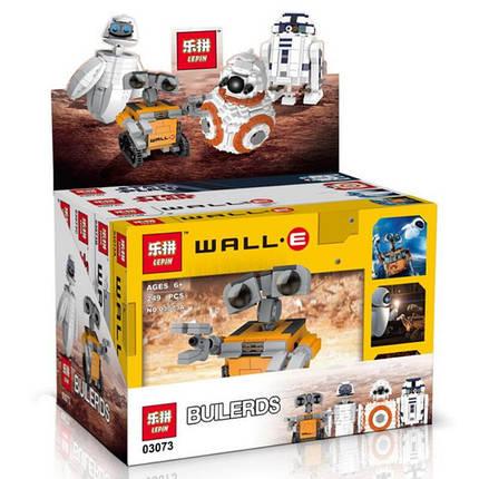 Конструктор Lepin 03073ABCD Роботы mini Wall-E, EVA, BB-8, R2-D2 (аналог Lego Star Wars) НАБОР из 4 шт, фото 2