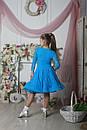 Рейтинговое платье Бейсик для бальных танцев Sevenstore 9101 Голубая бирюза, фото 6