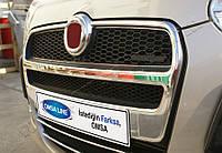 Накладки на решетку радиатора 2шт Fiat Doblo 2010 -
