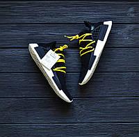 Мужские кроссовкиPharrell Williams x adidas Originals NMD 'Human Race' – 'Black' Реплика ТОП качества!