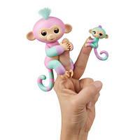 Обезьянки Fingerlings с другом 100% Оригинал WowWee Baby Monkey & Mini Bffs Ashley and Chance Эшли и Шанс , фото 1