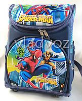 Школьный каркасный рюкзак для мальчиков Spider Man синий
