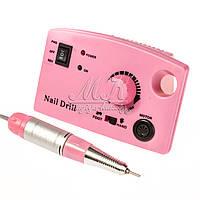 Фрезер для маникюра Nail Drill 65W, 35 тыс. оборотов, розовый