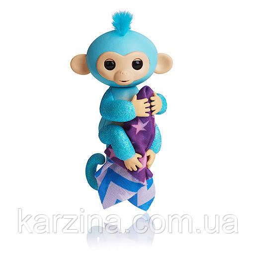 Блестящая обезьянка Fingerlings Glitter Амелия с одеялком!!! 100% Оригинал WowWee