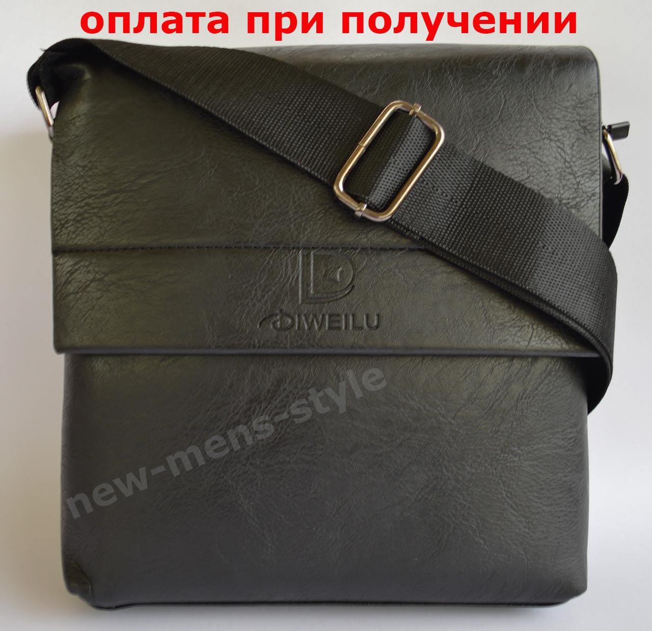558fb00b6f85 Мужская кожаная фирменная сумка барсетка DIWEILU Polo классика купить