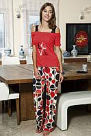 Женская пижама Shirly 5816, костюм домашний с повязкой на глаза для сна, фото 1