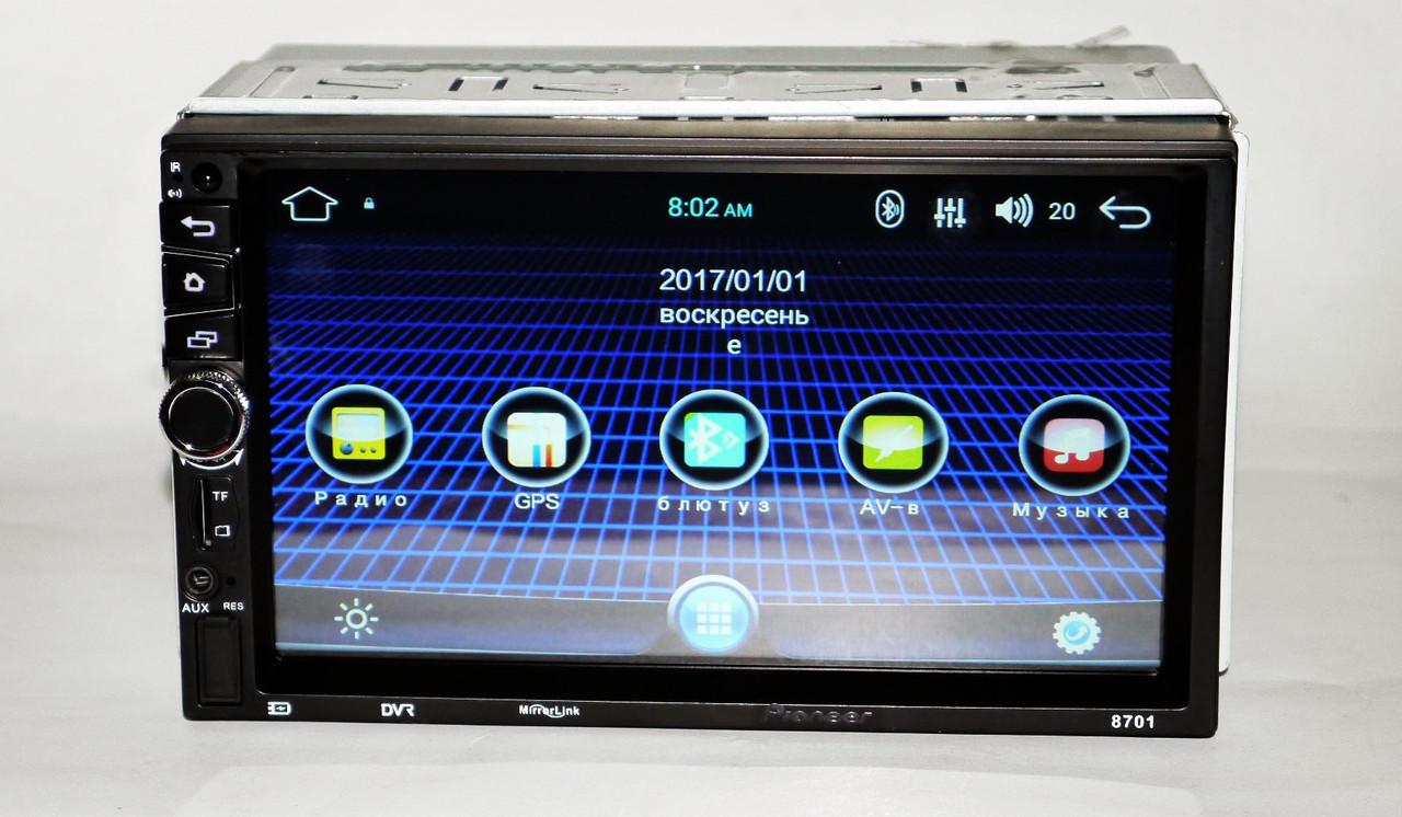 2din Автомагнитола Pioneer Android 8701 с полной комплектацией+ камера заднего вида + WiFi