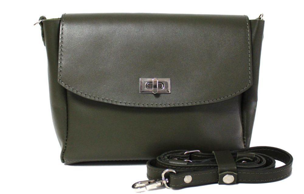 СУМКА WINGS MINI CROSS оливковая - FOXBAG кожаные сумки и аксессуары  украинских брендов в Днепре 3284c4ed2be46