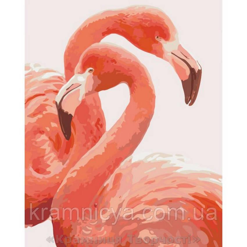 Живопись по номерам Грация фламинго, 40х50 (КНО2446)