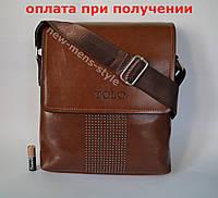 b4eca773e42a Мужская кожаная сумка барсетка через плечо бренд TOLO Polo Поло купить