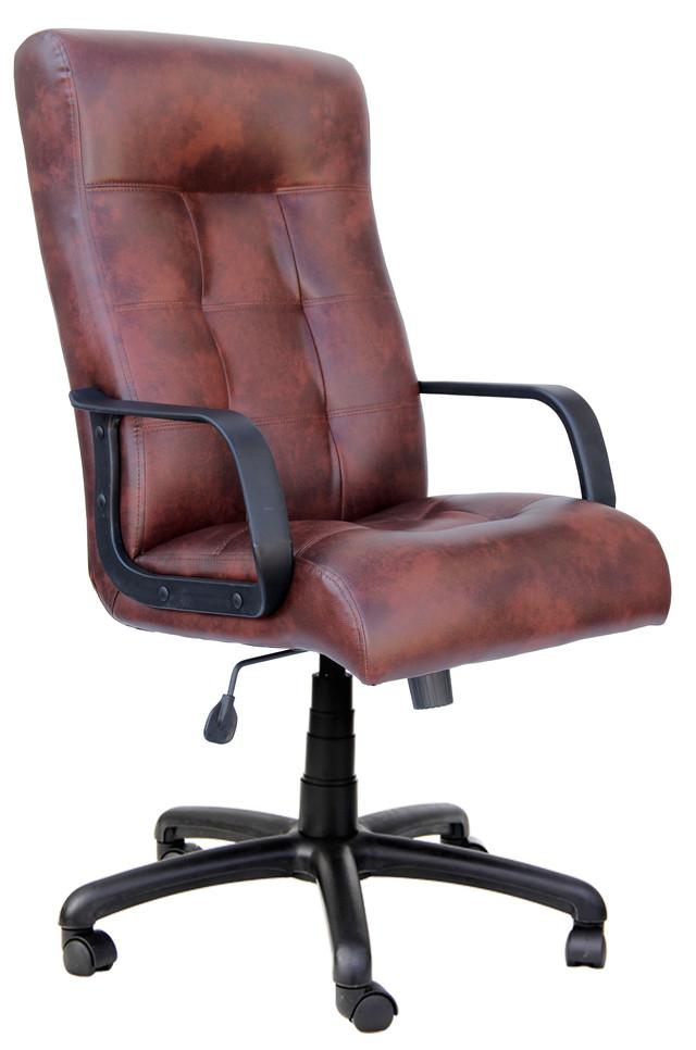 Кресло Вирджиния PL мех., Tilt Скаден PU пятнистый- коричневый.