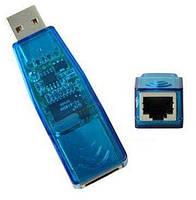 Контроллер USB 2.0 to Ethernet  - Сетевой адаптер 10/100Mbps, Blue [FY-1026]