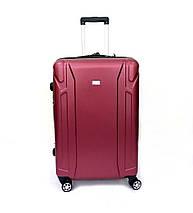 Ударопрочный чемодан пластиковый из поликарбоната большой 111 л Oulando бордовый, фото 2