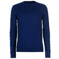 Джемпер Pierre Cardin Jacqard Knitted Midnight Blue - Оригинал