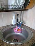 Органайзер для кухонной мойки для мытья посуды регулируемый ПВХ, фото 8