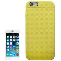 Чехол-накладка Apple iPhone 6 на заднюю панель силиконовый TPU точечная перфорация желтый Dots Case